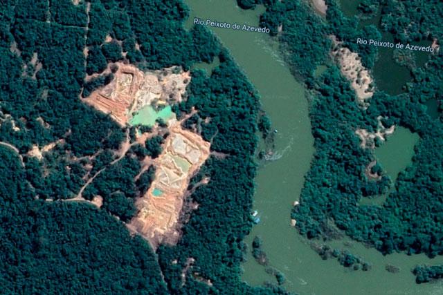 Área de Garimpo no Mato Grosso