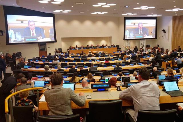 Prefeito Arthur em evento da ONU