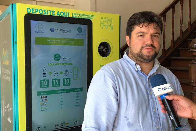 máquina de reciclagem