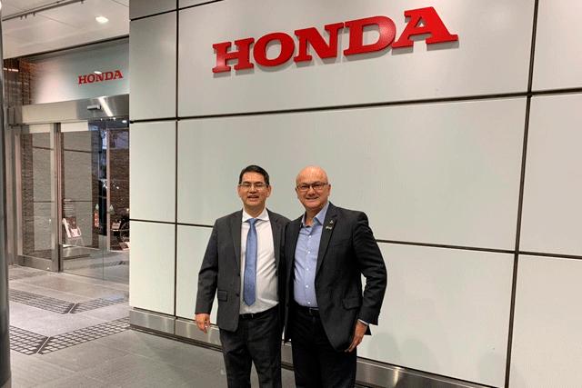 Alfredo Menezes e Marcos Bento, da Honda