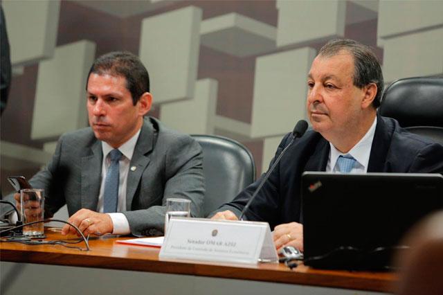 Marcelo Ramos e Omar Aziz