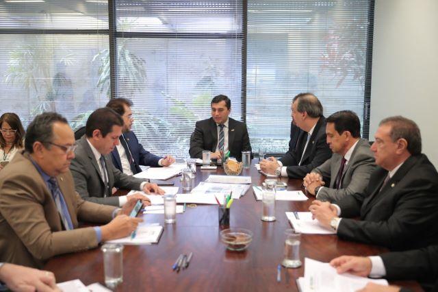 Wilson Lima com a bancada federal em Brasília