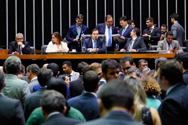 Plenário da Câmara dos Deputados nesta quarta-feira (Foto: Pablo Valadares/CD)