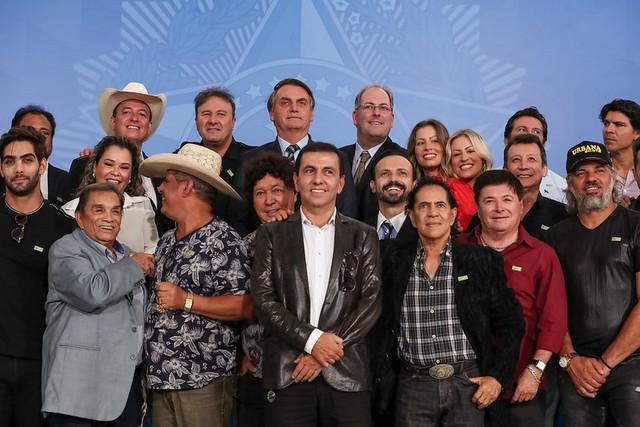Jair Bolsonaro durante encontro com Sertanejos, comediantes e promotores de eventos (Fotos: Marcos Corrêa/PR)