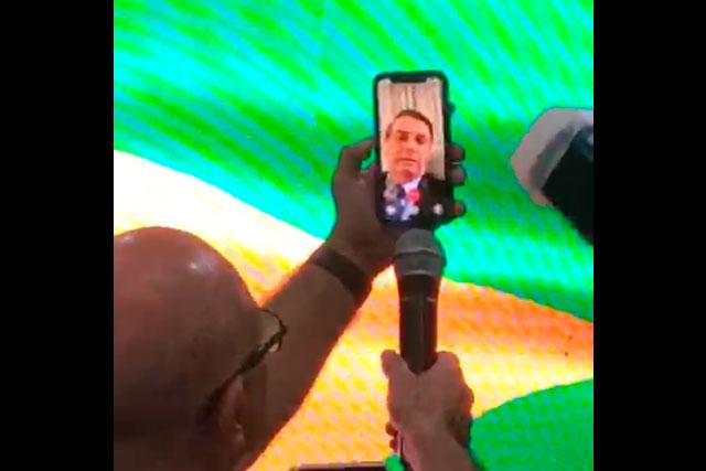 Bolsonaro fala da índia