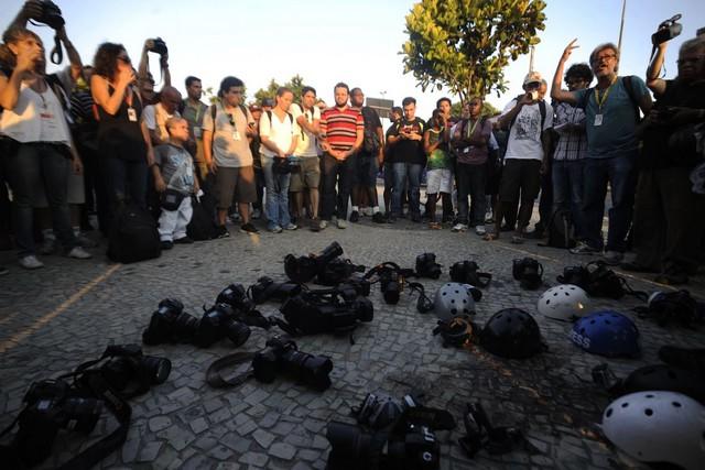 Profissionais da imprensa sofreram 28 ameaça e intimidação e 15 agressões físicas (Foto: Fernando Frazão/Agência Brasil)