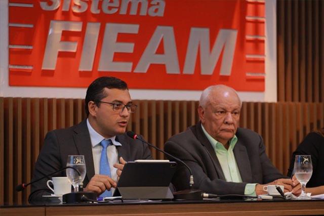 Governador Wilson Lima e presidente da Fieam, Antônio Silva