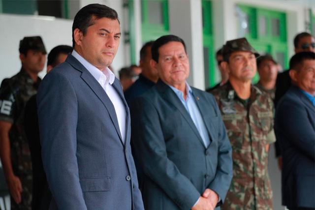 Governador Wilson Lima e o vice-presidente Hamilton Mourão