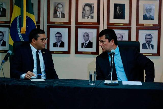 Governador Wilson Lima e ministro Sérgio Moro