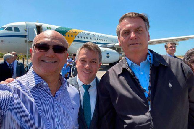 Alfredo Menezes, Antônio Denarium e Jair Bolsonaro