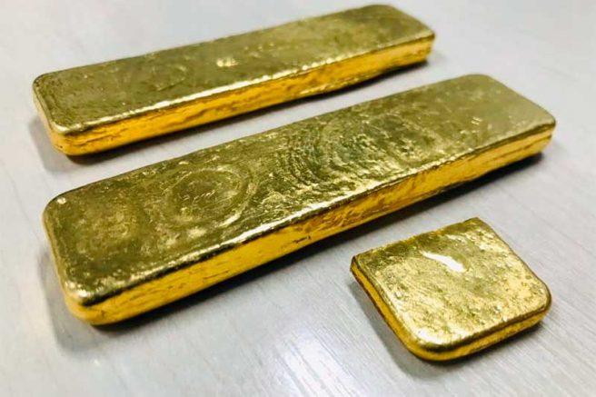 ouro em barras