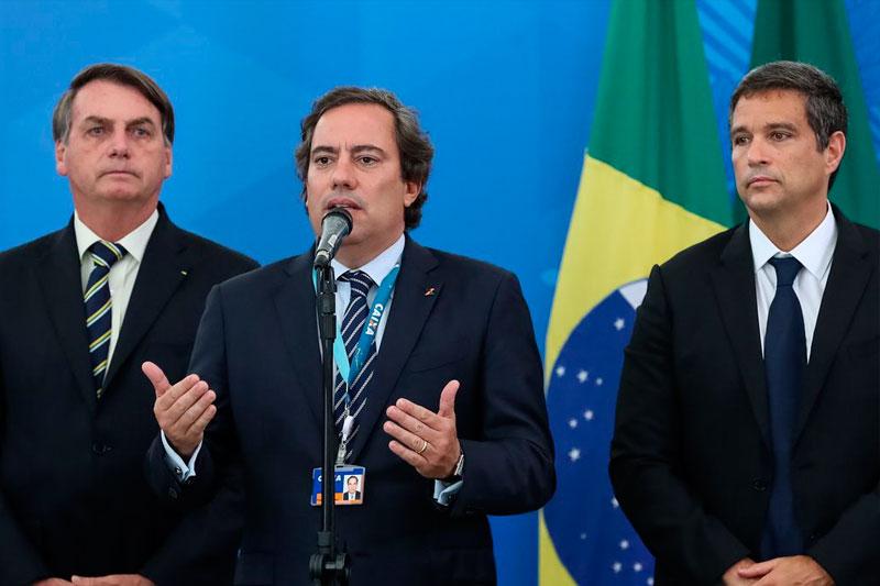 Bolsonaro, Pedro Guimarães e Roberto Campos Neto