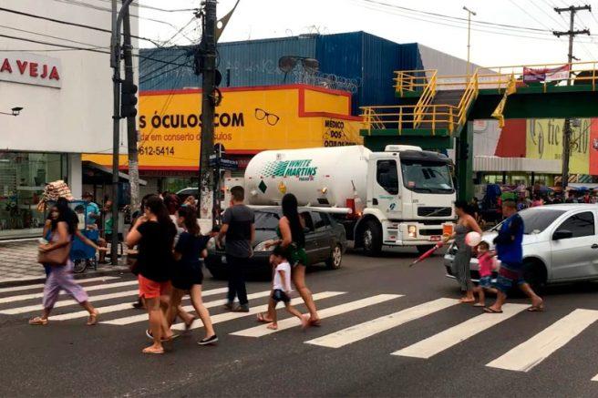 Faixa de pedestre em Manaus