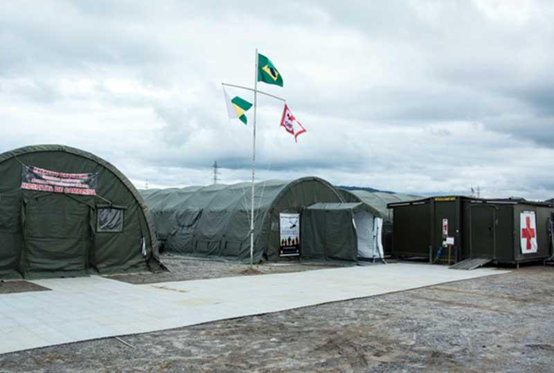Nos módulos de saúde podem ser implantados ambulatórios, salas de isolamento e UTIs (Foto: Exército/Divulgação)