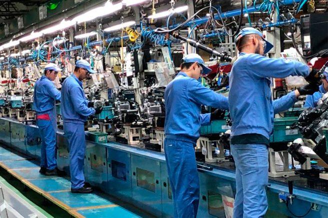 Trabalhadores da indústria em Manaus