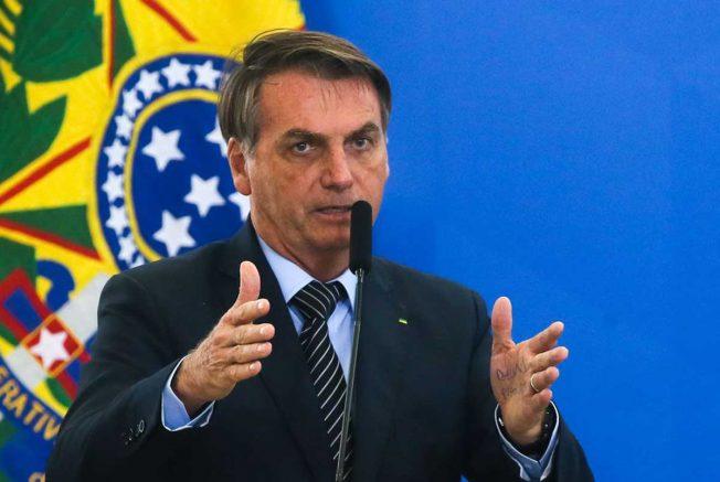 Jair Bolsonaro pediu a população que participe das manifestações (Foto: Atonio Cruz/Agência Brasil)