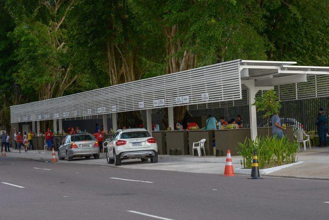 Praça do Coco, na Ponta Negra - Manaus