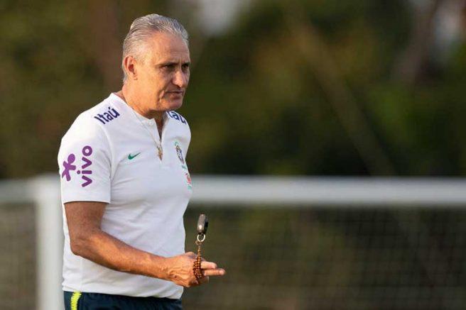Os convocados do técnico Tite deveriam se apresentar no dia 23 de março, no Recife (Foto: Lucas Figueiredo/CBF)