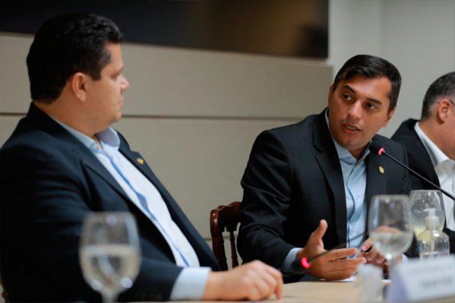 Governador Wilson Lima com Davi Alcolumbre