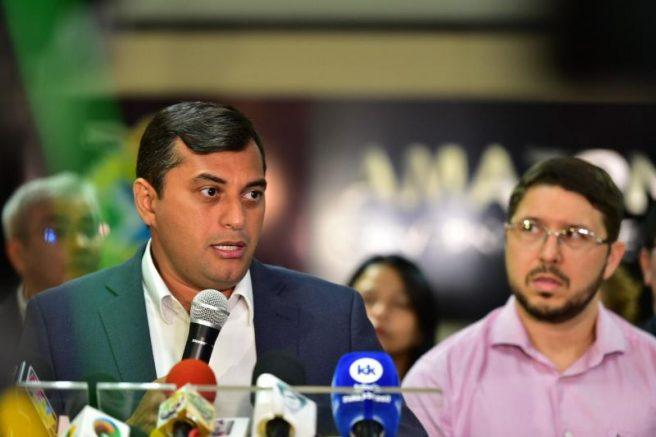 Governador Wilson Lima e o vice-governador Carlos Almeida