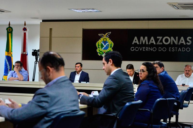 Wilson Lima se reuniu nesta segunda-feira, na sede do governo