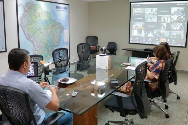 Governador Wilson Lima videoconferência
