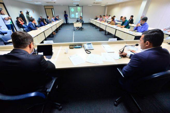 Coronavírus reunião com empresários do Amazonas