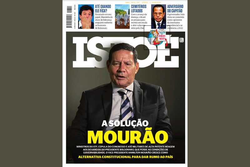 Capa da revista IstoÉ de 8 de abril de 2020