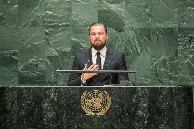 Leonardo DiCaprio se uniu com a Fundação Ford e a Apple para criar fundo humanitário (Foto: Cia Pak/UN/Fotospublicas)