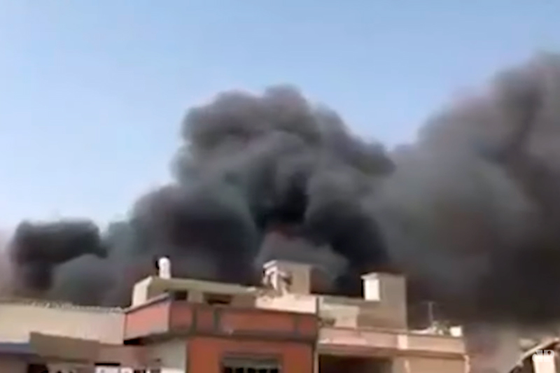 Avião cai no Paquistão