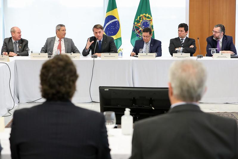Bolsonaro e a ultima reunião de ministro com Moro