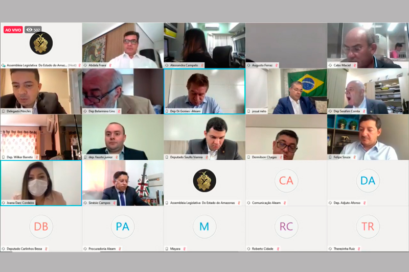 Sessão virtual da Assembleia Legislativa do Amazonas