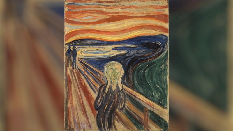 Pesquisadores investigam a perda de brilho e de intensidade da tinta usada por Edvard Munch para pinta 'O Grito' em 1910 (Foto: Domínio Público)