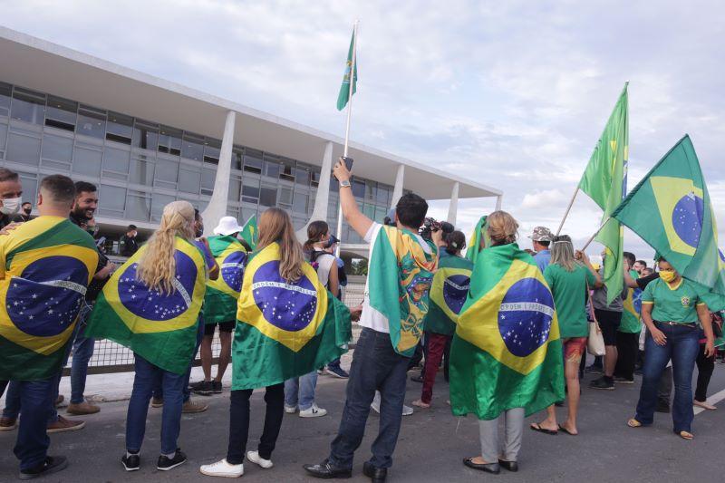 Manifestação de apoiadores de Bolsonaro