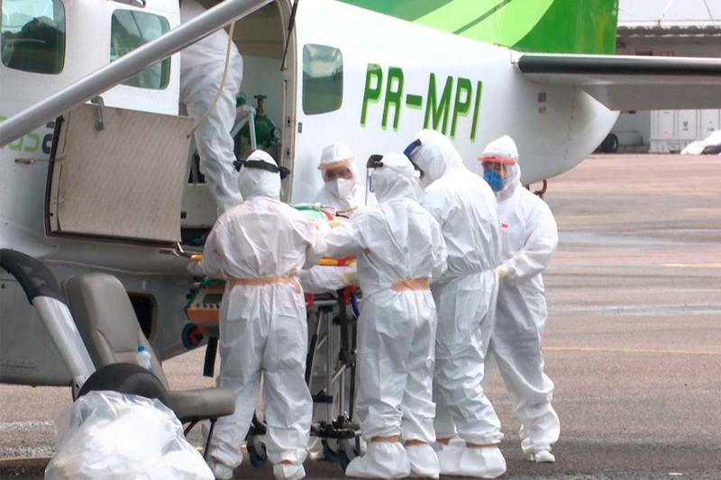 Transporte de paciente com Covid-19 no Amazonas