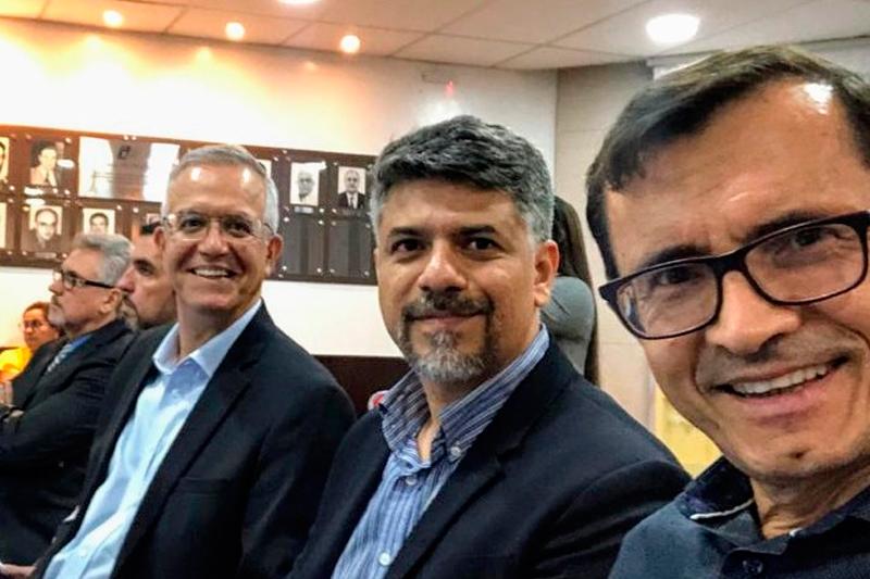 Romero Reis, Euler Guimarães e Antônio Azevedo