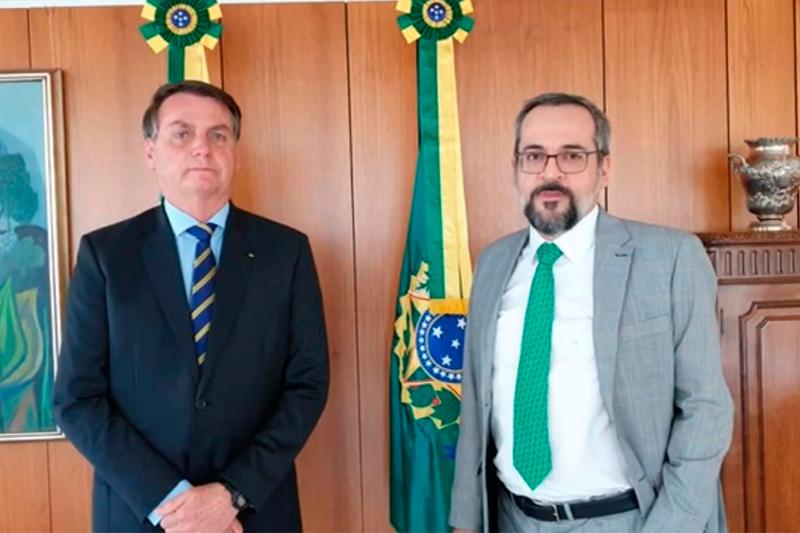 Jair Bolsonaroo e Abraham Weintraub