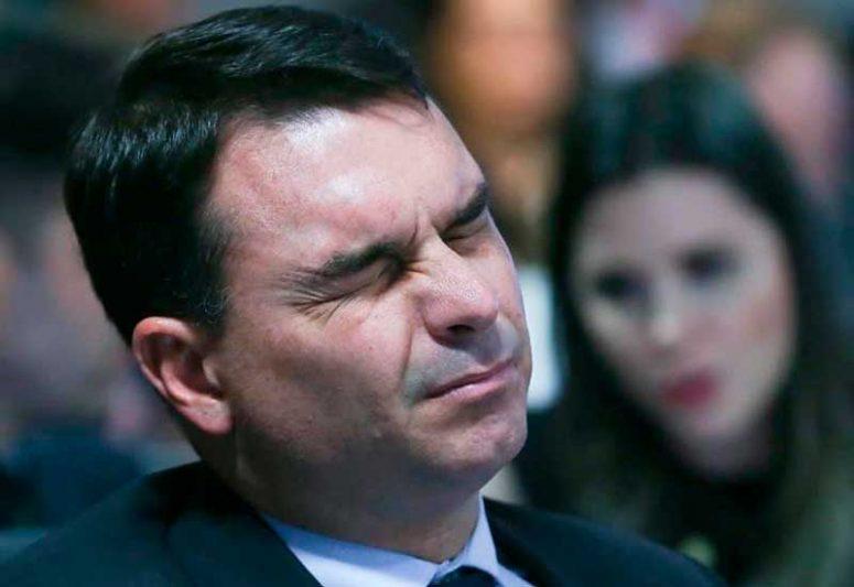 Senador Flávio Bolsonaro disse que encara os acontecimento com 'tranquilidade' (Foto: Lula Marques)