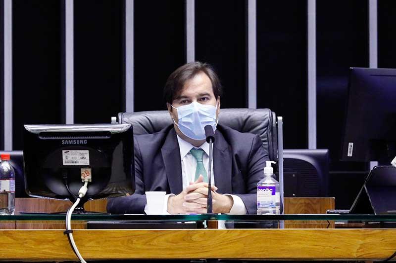 Para Rodrigo Maia, ataques ao Congresso e STF é inaceitável em meio à pandemia, que tem causado impacto negativo à economia (Foto: Maryanna Oliveira/Câmara dos Deputados)