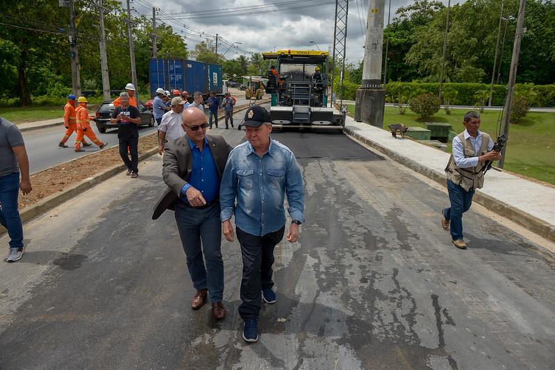 Obra de recuperação das ruas do Distrito Industrial