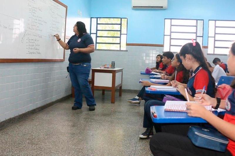 sala de aula rede estadual