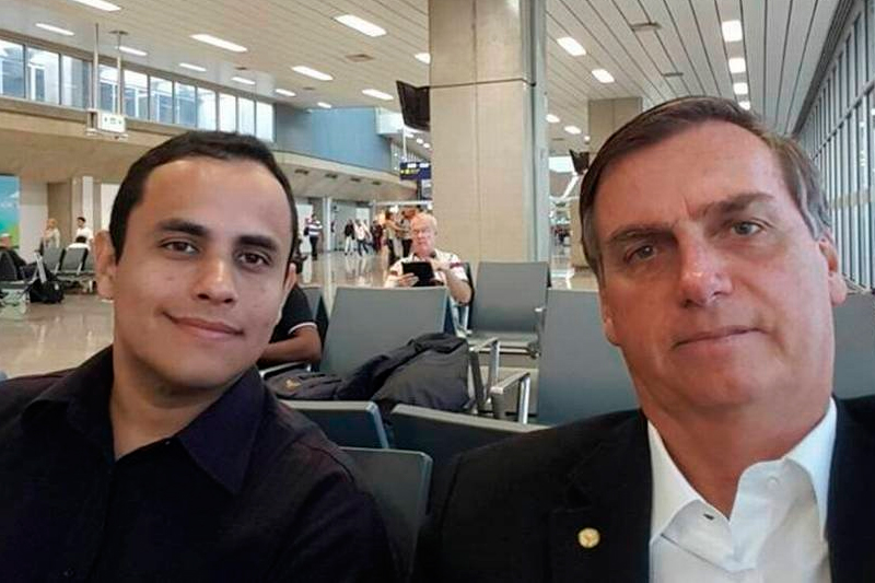 Tércio Thomaz e Jair Bolsonaro