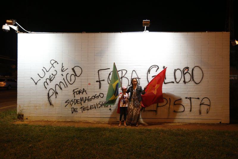 Protesto contra a Rede Globo em 2016