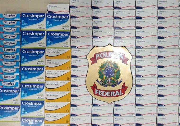 remédios apreendidos pela PF em Tabatinga Foto PF