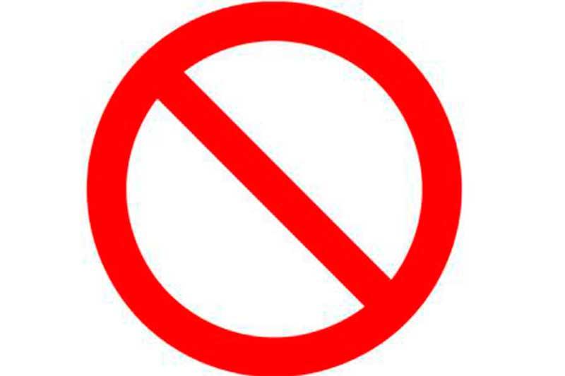 Símbolo de proibido - Foto Divulgação