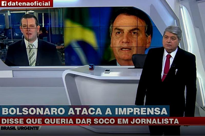 Datena reage à comentário de Bolsonaro sobre a imprensa (Foto: Reprodução/YouTube/Brasil Urgente)