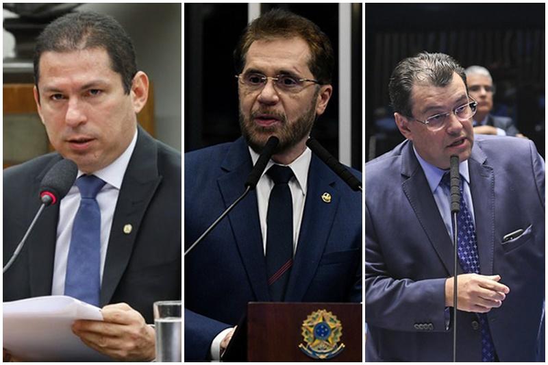 Marcelo Ramos e Plínio Valério criticaram Renda Cidadã, Eduardo Braga diz ser necessário (Fotos: Agências Câmara e Senado)