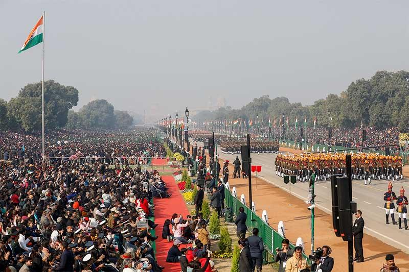 Desfile militar na Índia Foto Alan Santos-PR Fotos Públicas