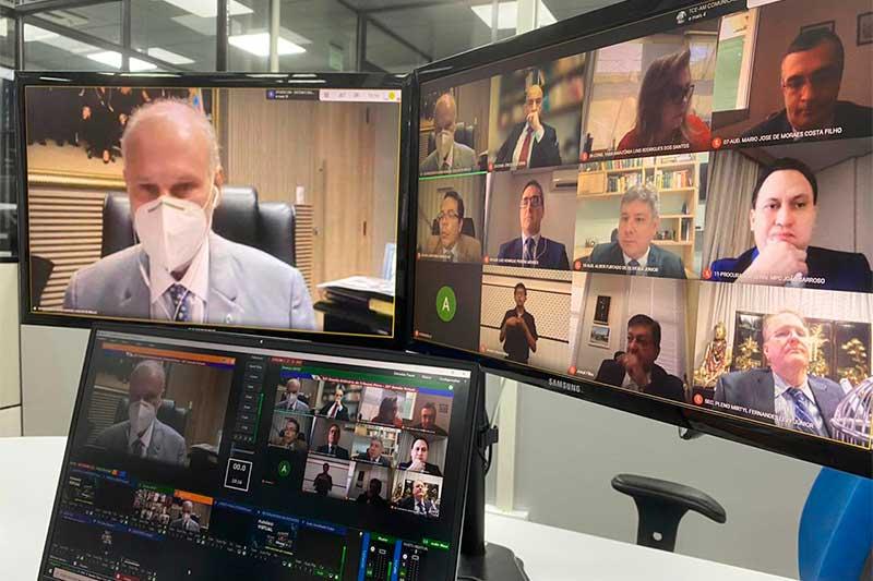 Sessão virtual do TCE - Foto TCE-Divulgação