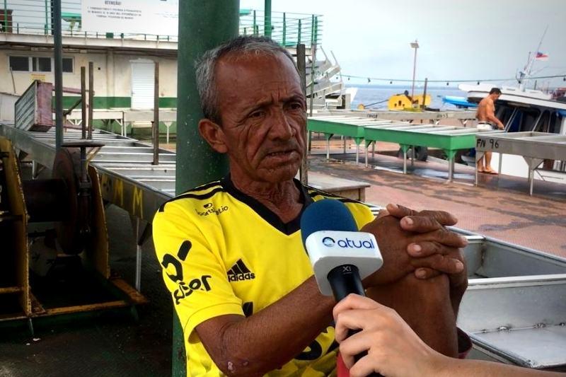 Pescador Raimundo Nonato, 53, critica desorganização no Terminal Pesqueiro (Foto: Murilo Rodrigues/ATUAL)